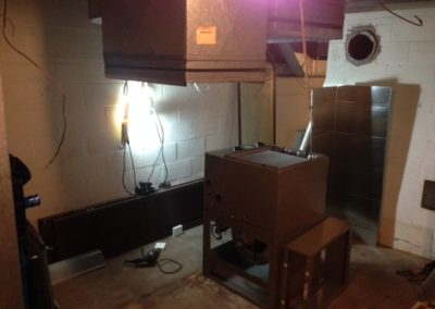 Redoing the duct and setting Furnace